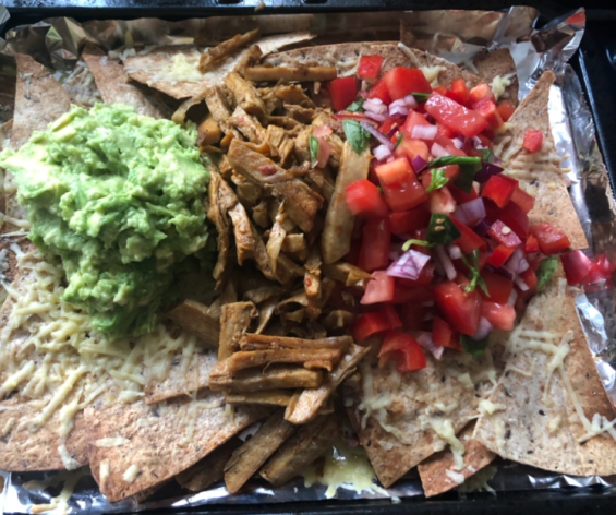 Avocado, Soya, Tomato, Onion, Coriander, tortilla wraps and koko cheese