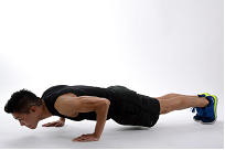 Improve core strength with the plank.