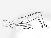 Exercise to strengthen lower back and core muscles.