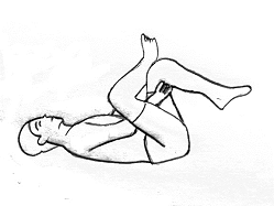 Stretch for the hip and buttock area